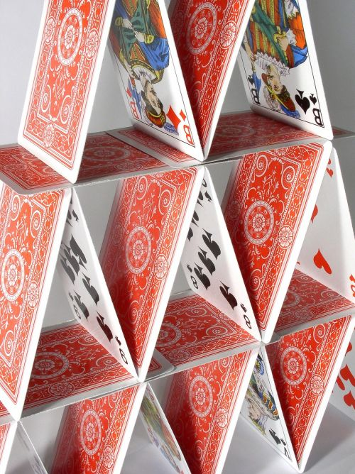 house of cards fragile playing cards