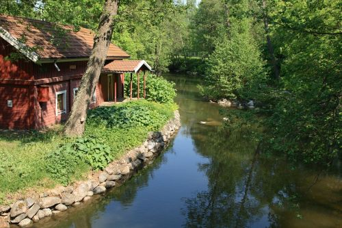 house on a river summer house