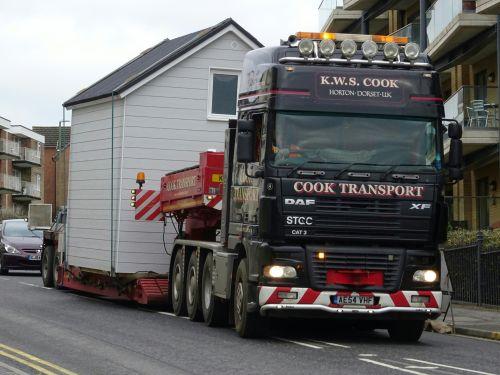 House On Truck Trailer