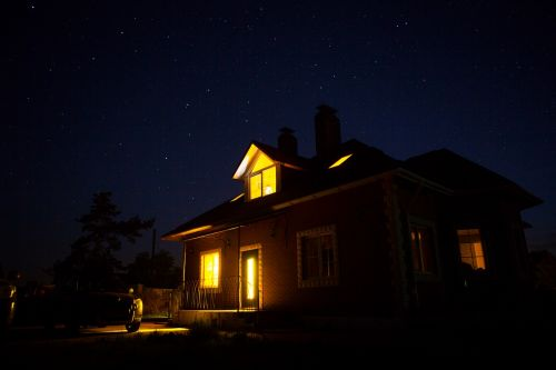 house under the stars starry sky house under the starry sky