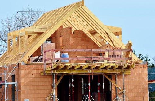 housebuilding  site  construction work
