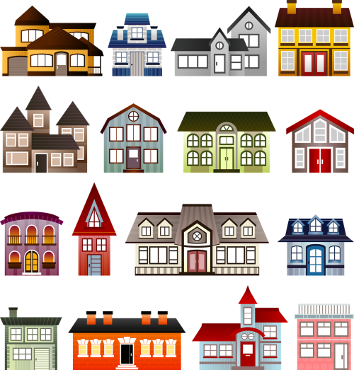 houses set architecture