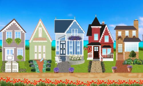 houses victorian facade