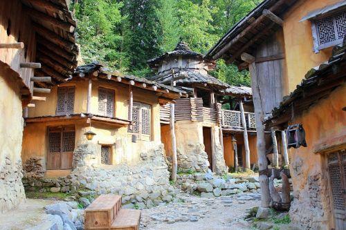 houses village building