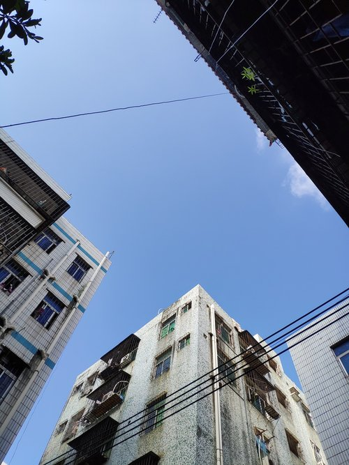 houses  patio  sky