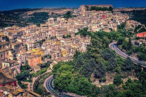 houses  city  sicily