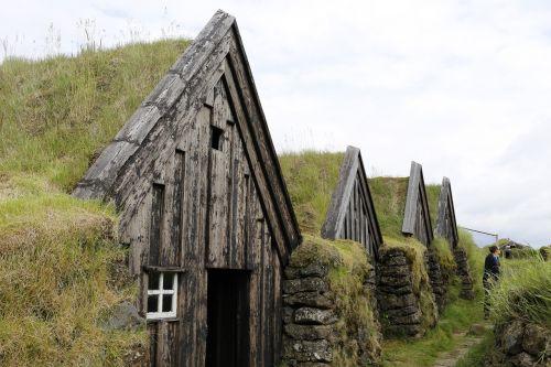 namai,žolė,iceland
