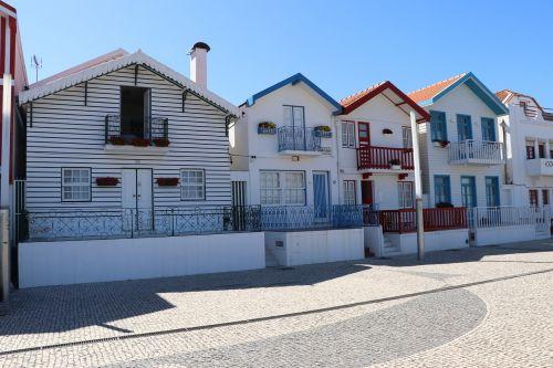 houses colors costa nova house fishermen