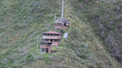 houses in the mountain baños de agua santa ecuador