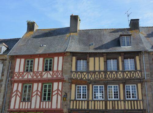 houses timber-framed centre ville tréguier brittany france