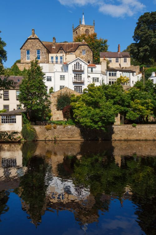Houses With Water Reflection
