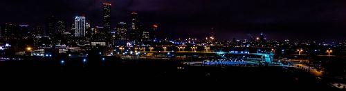 houston downtown night time