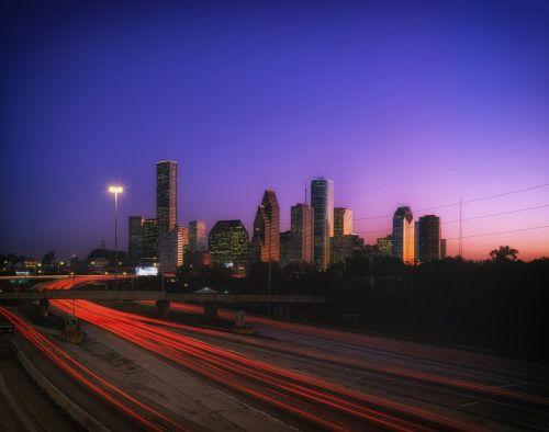 houston texas sunset