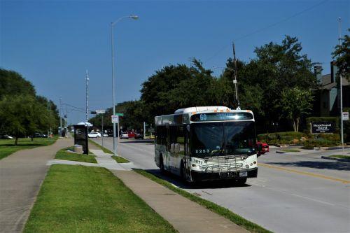 houston texas metro bus bus stop road