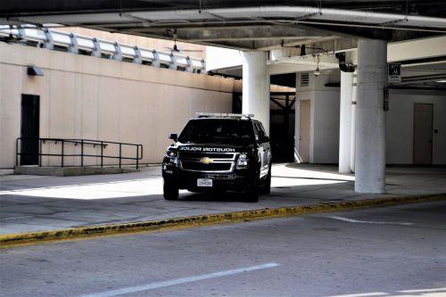houston texas police car hobby airport suv