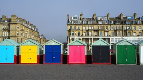 hove beach huts brighton