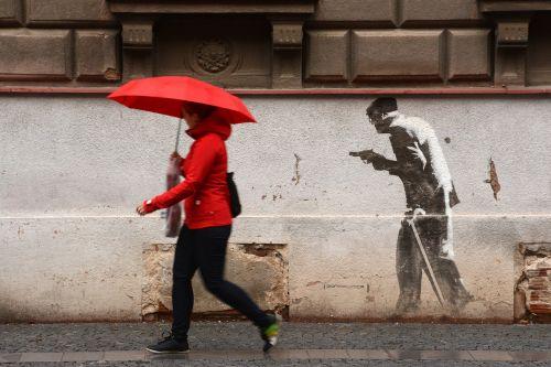 hradec králové graffiti man
