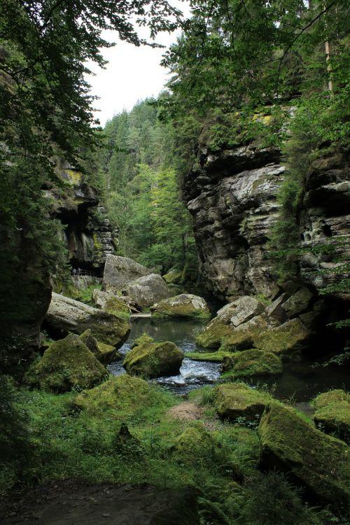 hřensko rocks czech switzerland
