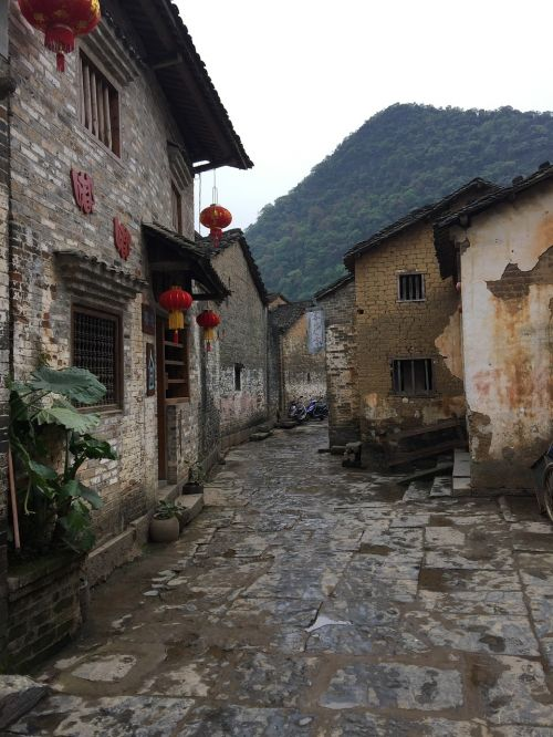 huang yao ancient town early in the morning ancient streets