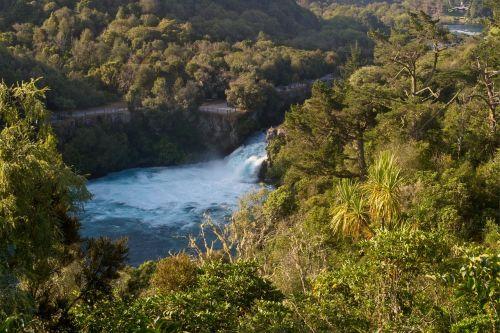 huka falls waikato river bubbling