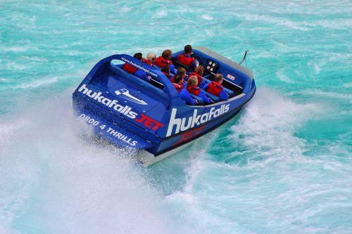 huka falls huka river jet boat