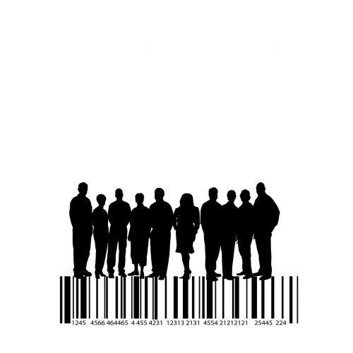 human silhouettes group