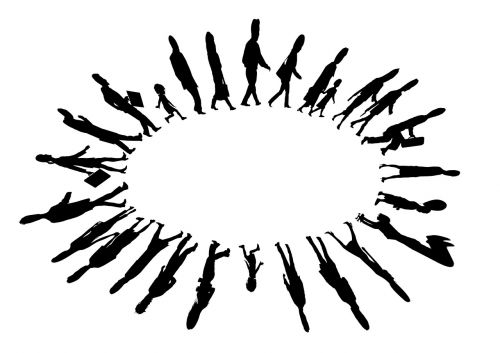 human silhouettes about