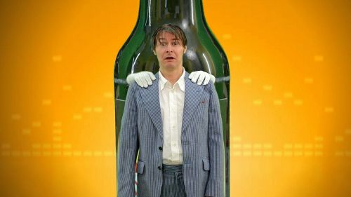 human man bottle