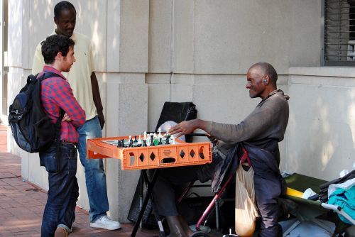 human chess homeless