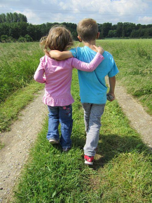 human children friendship