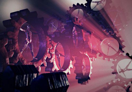 human gear man machine