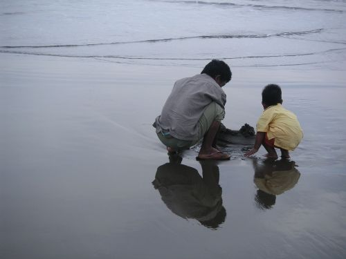 human beach sea