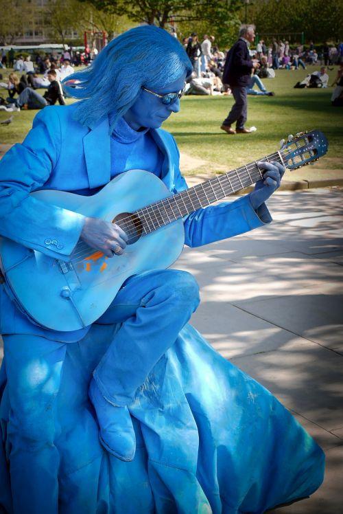 human man guitar