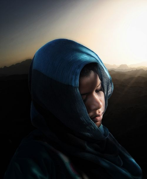 human veil hood