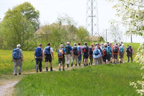 human  hiking  group