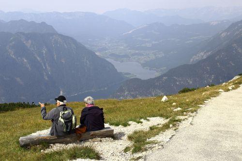žmogus,senas,kalnas,perspektyva,stendas