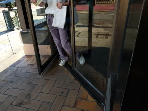 Human Leaving A Store