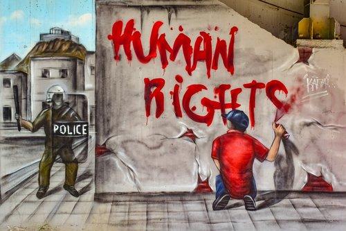 human rights  graffiti  wall