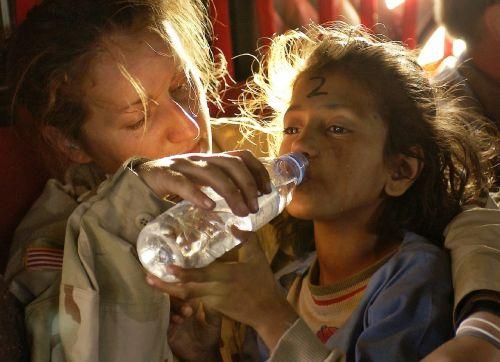 humanitarian aid water drink