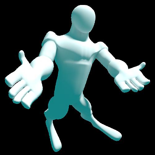 humanoid with welcome posture humanoid stand up humanoid