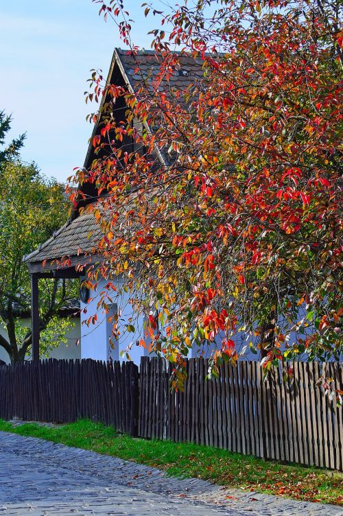 hungarian hollókő autumn