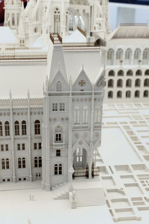 hungarian parliament mock-up building exhibition