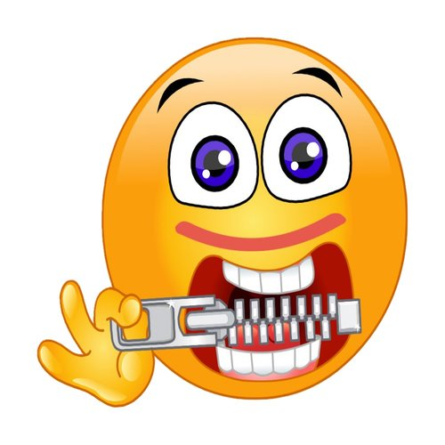 hungry  zipping  emoji