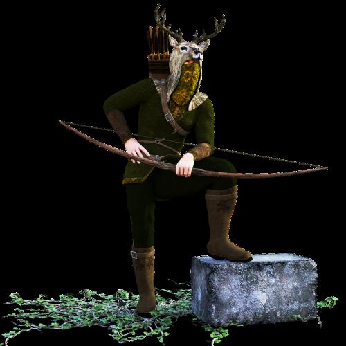 hunter arch bow and arrow
