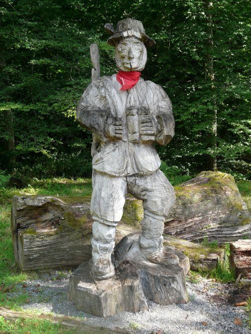 hunter waldmann holzfigur