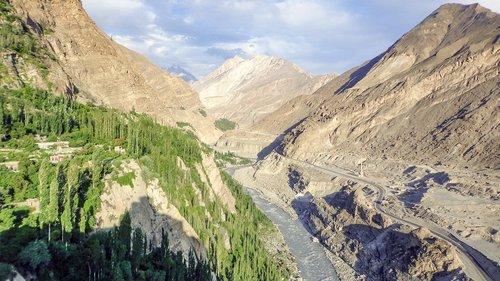 hunza  river  kkh