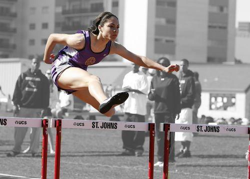 hurdles track race