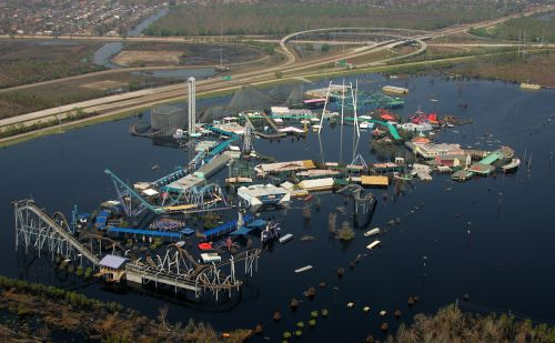 hurricane flooding amusement park disaster