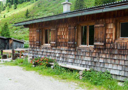 hut summer hiking