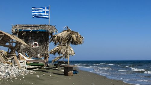 hut rough beach